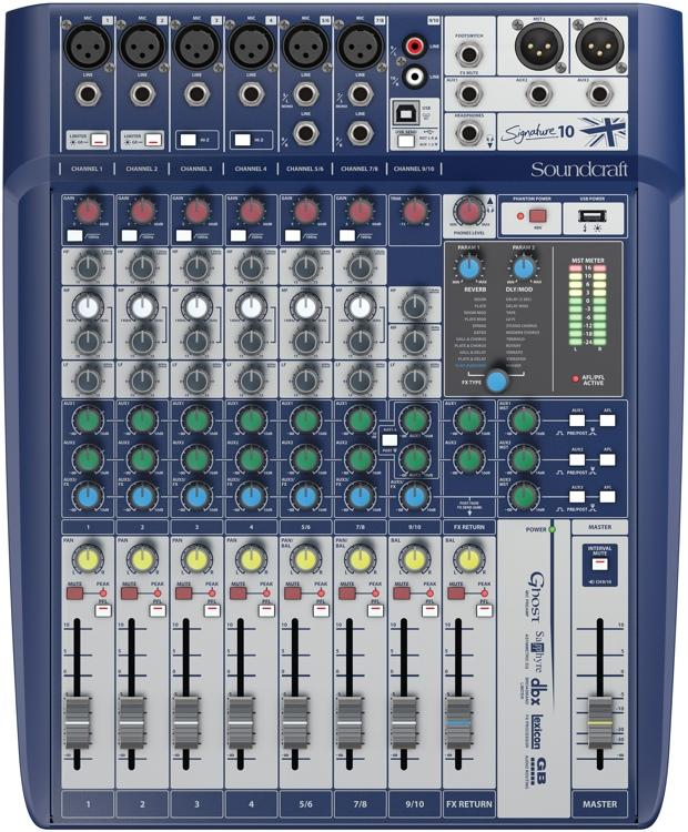 Soundcraft signature 10 table de mixage analogique